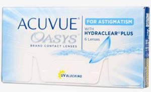Линзы Acuvue Oasys for Astigmatism.